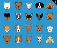 Ensemble de Samoyed de la bande dessinée 5 d'icône de course de visages de chien illustration de vecteur