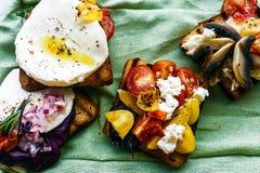 Ensemble de sandwichs délicieux légers Image libre de droits