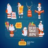 Ensemble de Santa Claus Photographie stock