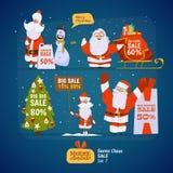 Ensemble de Santa Claus Photos libres de droits