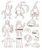 Ensemble de Santa Claus Christmas Illustration de vecteur Photo stock