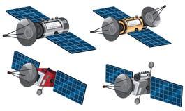 Ensemble de satellite de l'espace illustration stock