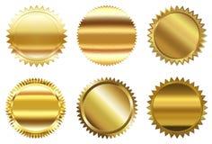 Ensemble de sceau d'or illustration de vecteur