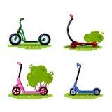 Ensemble de scooters illustration libre de droits
