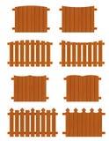 Ensemble de sections en bois de barrières de différentes formes Image libre de droits