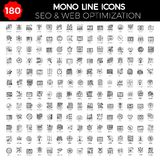 Ensemble de SEO Icon Images libres de droits