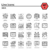 Ensemble de SEO Icon Images stock
