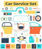 Ensemble de service de voiture Photo stock
