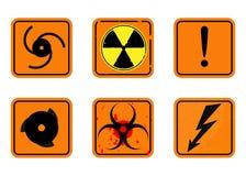 Ensemble de signaux d'avertissement illustration libre de droits