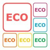 Ensemble de signe d'icône d'Eco Photos stock