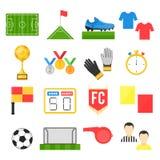 Ensemble de signe du football du football Photographie stock