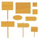 Ensemble de signe en bois   Image libre de droits