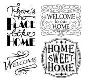 Ensemble de signes à la maison Image libre de droits