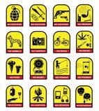 Ensemble de signes de prohibition illustration libre de droits