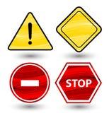 Ensemble de signes de route Photographie stock libre de droits