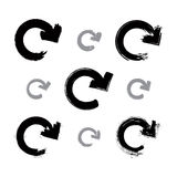 Ensemble de signes monochromes peints à la main de mise à jour Photo stock