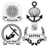 Ensemble de signes nautiques Images libres de droits
