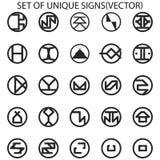 Ensemble de signes uniques photos stock