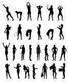 Ensemble de silhouette de femme Images stock