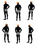 Ensemble de silhouette des hommes Image stock
