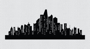 Ensemble de silhouette de villes Image libre de droits
