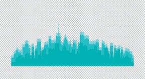 Ensemble de silhouette de villes Images stock
