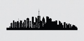 Ensemble de silhouette de villes Photographie stock libre de droits