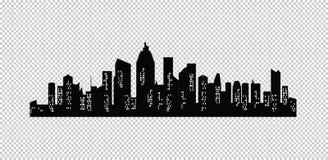 Ensemble de silhouette de villes de vecteur Photographie stock libre de droits