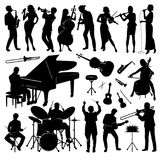 Ensemble de silhouettes illustration libre de droits