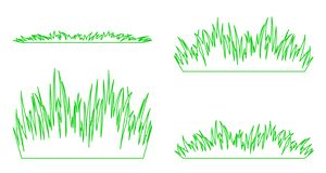 Ensemble de silhouettes d'herbe verte illustration libre de droits