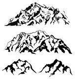Ensemble de silhouettes de montagne de vecteur Illustration Libre de Droits