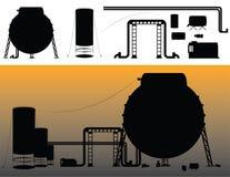 Ensemble de silhouettes industrielles Photos libres de droits
