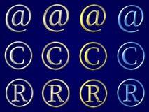 Ensemble de simbols Images libres de droits