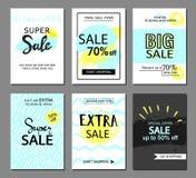 Ensemble de site Web social de vente de media et de calibres mobiles de bannière Dirigez les bannières, affiches, insectes, email Image stock