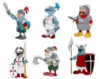 Ensemble de six chevaliers Image stock