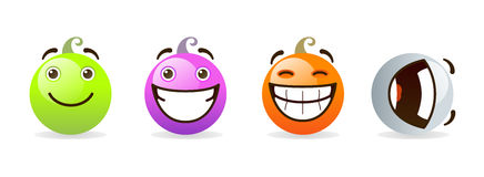 Ensemble de smiley Image libre de droits