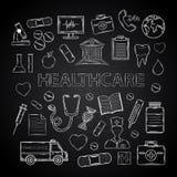 Ensemble de soins de santé Photographie stock libre de droits