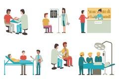 Ensemble de soins de santé Image libre de droits