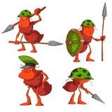 Ensemble de soldats de fourmi Images stock