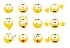 Ensemble de sourires. illustration stock