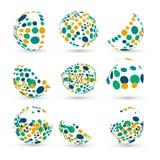 Ensemble de sphères abstraites de vecteur Image stock