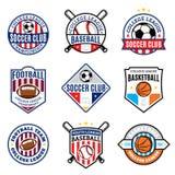 Ensemble de sport Team Logo pour quatre disciplines de sport Photos libres de droits