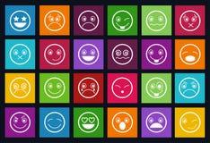 Ensemble de style de Smiley Icons Design Metro Photo stock