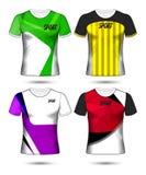 Ensemble de style de T-shirt de calibre de débardeur du football ou du football, conception illustration stock