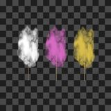 Ensemble de sucrerie de coton douce colorée Images libres de droits
