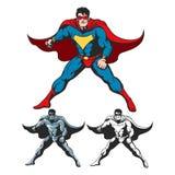 Ensemble de super héros de bande dessinée illustration stock