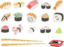 Ensemble de sushi Image libre de droits