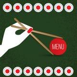 Ensemble de sushi de vecteur Icône réaliste Images stock