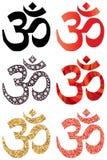 Ensemble de symbole d'hindouisme illustration de vecteur