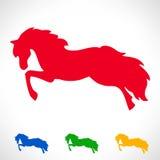 Ensemble de symbole de cheval Photographie stock